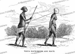 warua slave drivers of the urua kingdom, a luba tribe in congo, verney lovett cameron, 1877