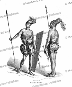 Mombuttu (Mangbetu) warriors, Central Africa, Paul Philippoteaux, 1873 | Photos and Images | Digital Art