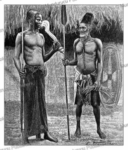 an iboko and bangala chief of congo, traversari, 1893