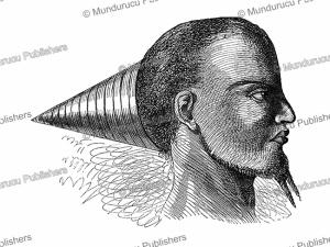 Hairstyle of a Bashinhe (Shinje) chief of the Kwango River, Congo, David Livingstone, 1857 | Photos and Images | Digital Art