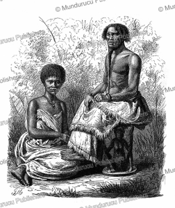 king russuna of lualaba and a wife, congo, gustav mu¨tzel, 1885