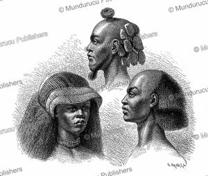 Hairstyles of the Manyema, Congo, Gustav Mu¨tzel, 1885 | Photos and Images | Digital Art