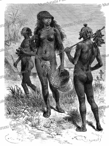 Natives of Manyema (a warlike Bantu people) in Tanganyika (now Western Tanzania), Emile Bayard, 1878 | Photos and Images | Digital Art