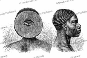 hairstyle of the wahombo of kabambare in congo, gustav mu¨tzel, 1885