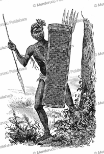 a warrior of wangata, congo, 1885