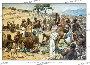 weekly market in upper congo, w. kuhnert, 1891