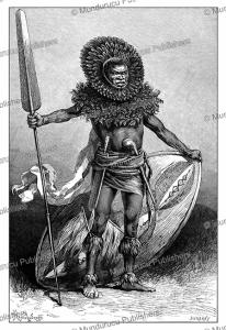 Maasai warrior, East Africa, Y. Pranishnikoff, 1885 | Photos and Images | Digital Art