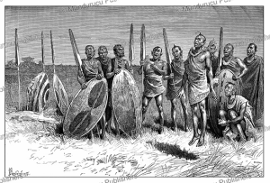 Maasai warriors, East Africa, Y. Pranishnikoff, 1885 | Photos and Images | Digital Art