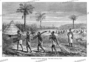 Slaves of the ivory merchant with the name Sirboko, Tanzania, Johann Baptist Zwecker, 1863 | Photos and Images | Digital Art