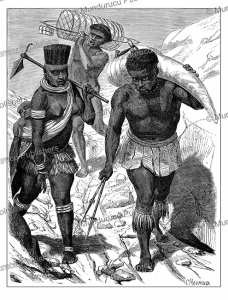 Blacks carrying ivory, Tanzania, Eastern Africa, Boulanger, 1860 | Photos and Images | Digital Art