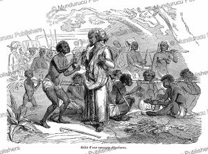 rest place for a slave caravan, l'illustration, 1849