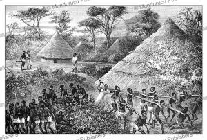 slave trade by lake nyassa, malawi, j.d. cooper, 1887