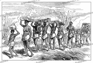 Slave Gang Passing Along the Edge of the Lushivi Marsh, Eastern Africa, Lieutenant Cameron, 1874 | Photos and Images | Digital Art