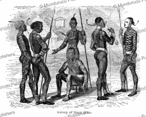 Group of Gani men, Uganda, Johann Baptist Zwecker, 1863 | Photos and Images | Digital Art