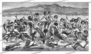 Samuel White Baker witnesses a feeding-frenzy over the corpse of a hippopotamus, 1866 | Photos and Images | Digital Art