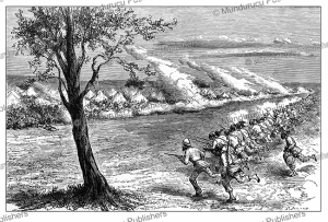 Samuel Baker attacking the slave hunters at Fatiko (fort Patiko) in Uganda with his regiment the Forty Thieves, G. Durand, 1874 | Photos and Images | Digital Art