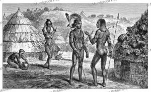 Natives of the Lira and Madi tribe in Uganda, Johann Baptiste Zwecker, 1866 | Photos and Images | Digital Art