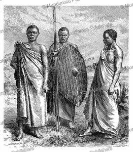 Waganda people of Central Africa, W. Sievers, 1891 | Photos and Images | Digital Art