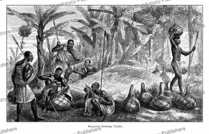 Waganda or Baganda people brewing beer, Uganda, Johann Baptist Zwecker, 1863   Photos and Images   Digital Art