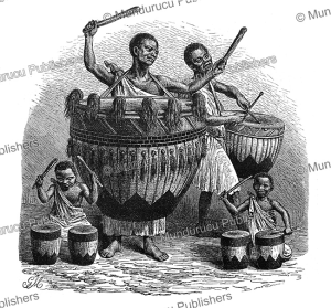 Waganda or Baganda drummers, Uganda, Gustav Mu¨tzel, 1885 | Photos and Images | Digital Art