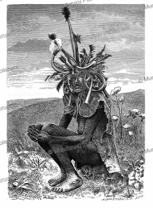 lango chief and magician, uganda, richard buchta, 1885