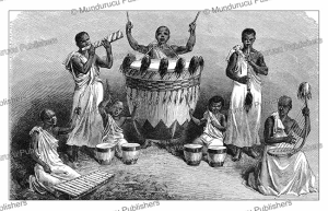 Music at the funeral of Sultan Katalambula of Uvinza, Tanzania, Johann Baptise Zwecker, 1890 | Photos and Images | Digital Art