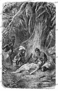 The discovery of Selim, a character from the novel Kalulu by Henry Stanley, Philippoteaux, 1877 | Photos and Images | Digital Art
