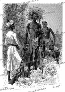A warrior of warlord Mirambo and warriors of the Vouatouta and Ouhha Warrior, Tanzania, Emile Bayard, 1878 | Photos and Images | Digital Art