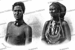 Man and woman of Somalia, H. Thiriat, 1885   Photos and Images   Digital Art