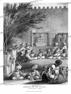 reception of the mission by the sultan of bornu, major denham, 1826
