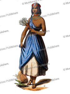 girl from kano, bornu empire, sudan, le´opold massard, 1843