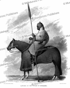 lancer of the sultan of bagirmi, major denham, 1826