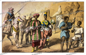inhabitants of the kingdom of bornu, now chad, ed. schauenburg, 1859