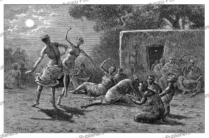 dancing women of logon, bornu, now chad, pranishnikoff, 1880