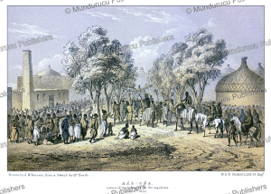 mas-ena, the return of the sultan bagirmi in bornu, now chad, j.m. bernatz, 1857