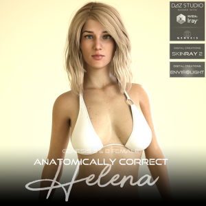 Anatomically Correct: Helena for Genesis 3 and Genesis 8 Female | Software | Design