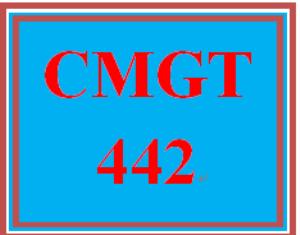 CMGT 442 Entire Course   eBooks   Education