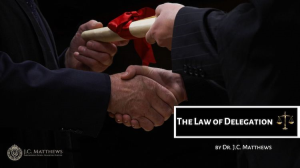 the law of delegation: the legal man