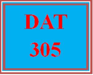 DAT 305 Week 1 Apply - Wk 1 Quiz | eBooks | Education