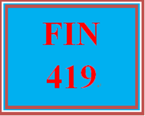 FIN 419 Week 5 Apply Assessment | eBooks | Education