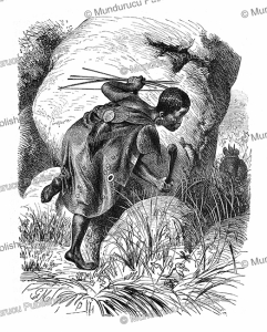a hunter of the khoikhoi (hottentot) tribe, namibia, gustav mu¨tzel, 1885