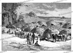 Hottentot kraal (huts and cattle), W. Sievers, 1891 | Photos and Images | Digital Art