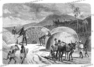 the manner in which the hottentots build their huts, w. sievers, 1891