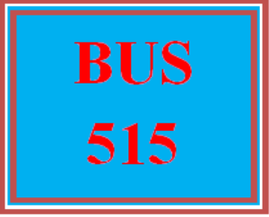 BUS 515 Week 1 Practice: Class Review Form | eBooks | Education