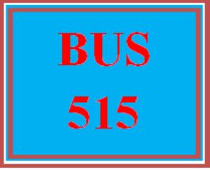 BUS 515 Week 3 Post-Test | eBooks | Education