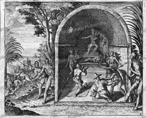 Reception for Dutch sailors on the river Gaba in West Africa, probably Gabon, Jan Huygen van Linschoten, 1610 | Photos and Images | Digital Art