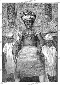 the king of new calabar, gabon (french congo), m. breton, 1875