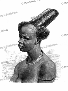 Ishogo hearstyle of Ashango-land, Gabon, Johann Baptiste Zwecker, 1867 | Photos and Images | Digital Art