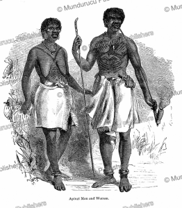 Man and woman of the Apingi tribe in Gabon, Paul du Chaillu, 1861   Photos and Images   Digital Art