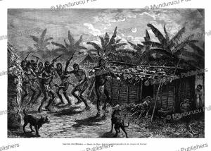 Tam-tam at Mamiaca, a chief of the Fang tribe, French Congo (Gabon), E´douard Riou, 1887 | Photos and Images | Digital Art